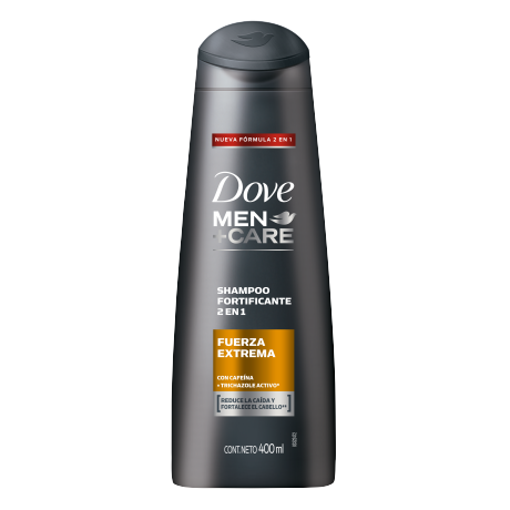 Dove Men+Care Shampoo 2 en 1 Fuerza Extrema 400ml