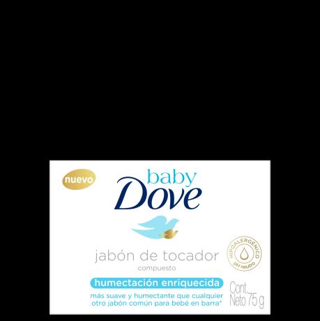 Baby Dove Jabón en barra Hidratación Enriquecida 75g
