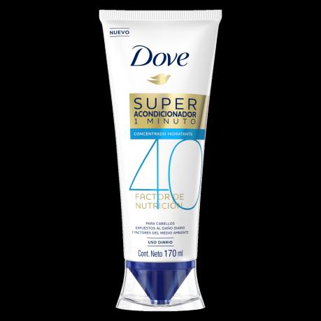 Dove Super Acondicionador 1 minuto Factor de Nutrición 40