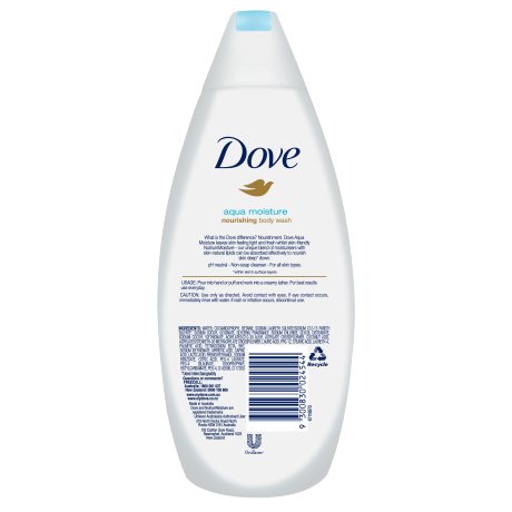 PNG - DOVE BODY WASH AQUA MOISTURE 375 ML
