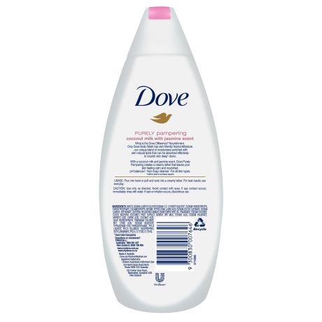 DOVE BODY WASH COCONUT MILK and JASMINE PETALS 375 ML