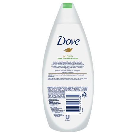 DOVE BODY WASH FRESH TOUCH 375 ML