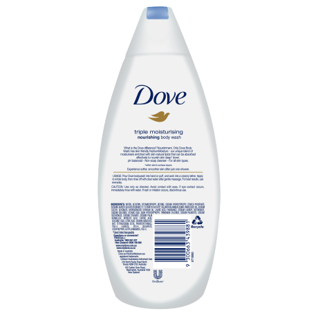 DOVE BODY WASH TRIPLE MOISTURE 375 ML