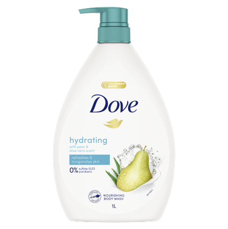 Dove Hydrating Pear & Aloe Body Wash 1L