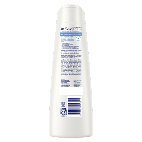 PNG - DOVE SHAMPOO AD COCONUT HYDRATION 300 ML