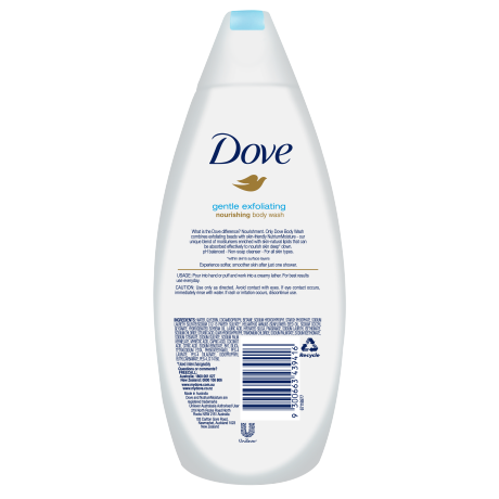 PNG - Dove Gentle Exfoliating Body Wash 375mL