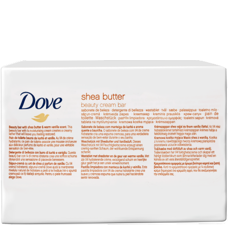 Dove Shea Butter Soap Bars 12x100g