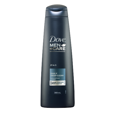 Dove Men+Care Daily Deep Clean Fortifying 2 in 1 Shampoo 300ml