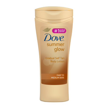 Dove Summer Glow Gradual Self Tan Body Lotion Fair to Medium 250ml
