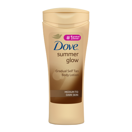 Dove Summer Glow Gradual Self Tan Body Lotion Medium to Dark 250ml