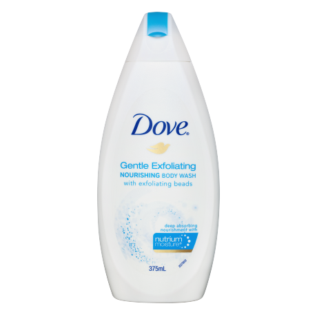 Dove Gentle Exfoliating Nourishing Body Wash 375ml