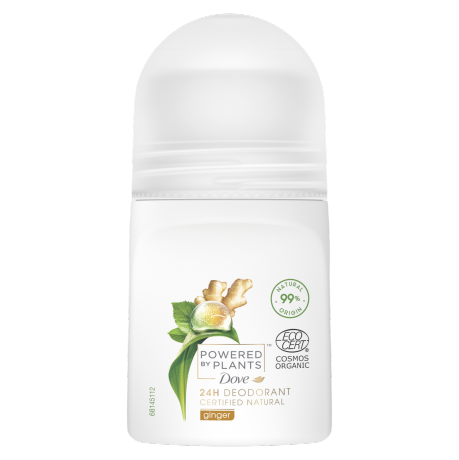 Dove Powered by Plants Ginger Roll-on Deodorant 50ml