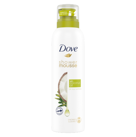 Dove Shower Mousse Coconut Oil