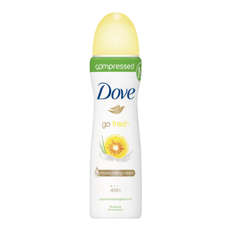 Dove Go Fresh Grapefruit & Lemongrass compressed spray déodorant 75ml