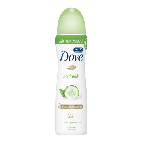 Dove Go Fresh Cucumber & Green Tea compressed spray déodorant 75ml
