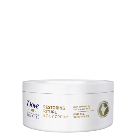 Dove Nourishing Secrets Restoring Body Cream met kokosolie & amandelmelk