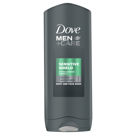 Dove Men+Care Sensitive Shield gel za prhanje za telo in obraz 250ml