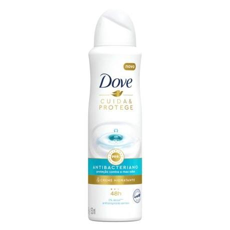 Desodorante Antitranspirante Aerosol Dove Cuida & Protege Antibacteriano 150ml