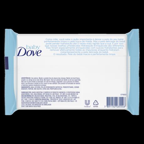 PNG - Lenços Umedecidos Baby Dove Hidratação Enriquecida 50 unidades