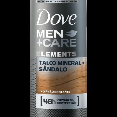 Antitranspirante Dove Men+Care Aerosol Talco Mineral + Sandalo 150ml