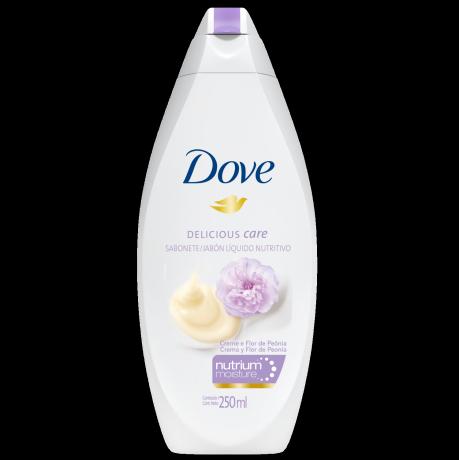 Sabonete Líquido Dove Delicious Care Creme e Flor de Peônia 250 ml