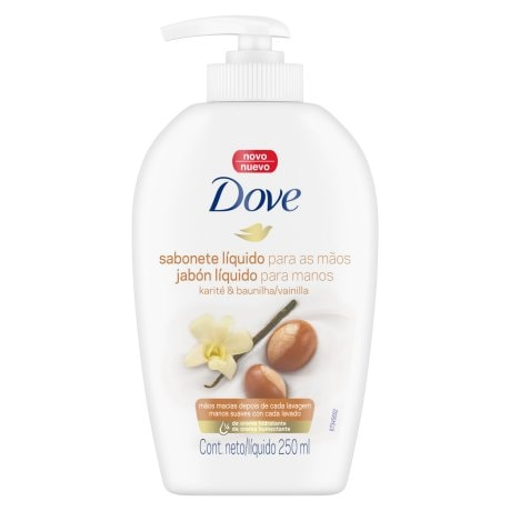 Sabonete Líquido para as Mãos Dove Delicious Care Karité e Baunilha 250ml
