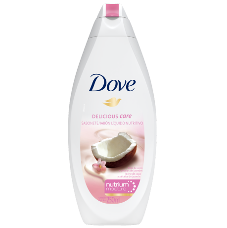 Sabonete Líquido Dove Delicious Care Leite de Coco 250ml