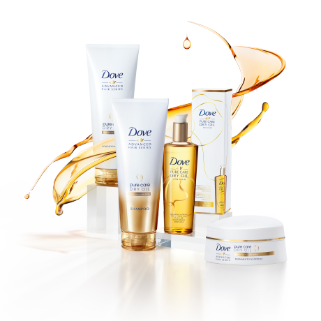 Linha Dove Advanced Hair Series Pure Care Dry Oil