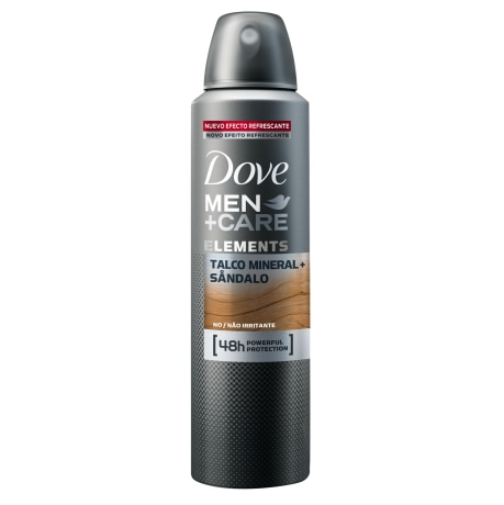 Antitranspirante Dove Men+Care Aerosol Talco Mineral + Sandalo 150ml