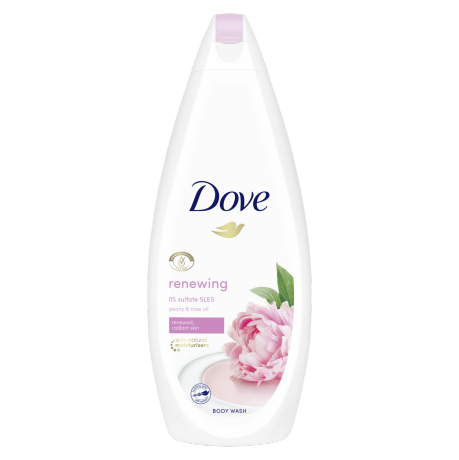 Dove Αφρόλουτρο Renewing Peony & Rose Oil 750ml