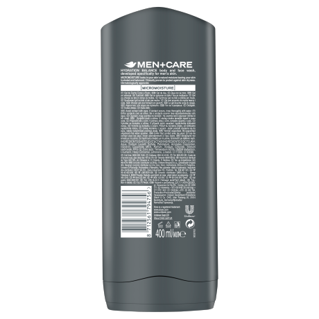 PNG - Dove Men+Care Hydration Balance body and face wash BOP 400ml 871256179