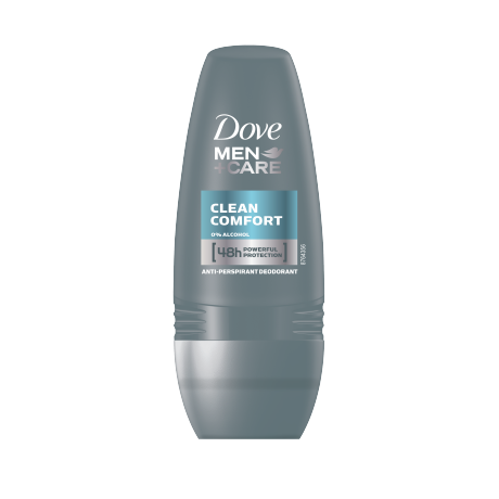 Dove Men+Care Clean Comfort antiperspirant roll-on 50ml