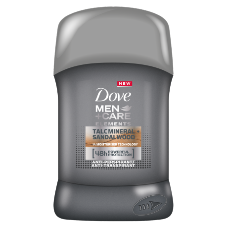 Dove Antiperspirant stick Men+Care Elements Talc Mineral + Sandalwood 50ml