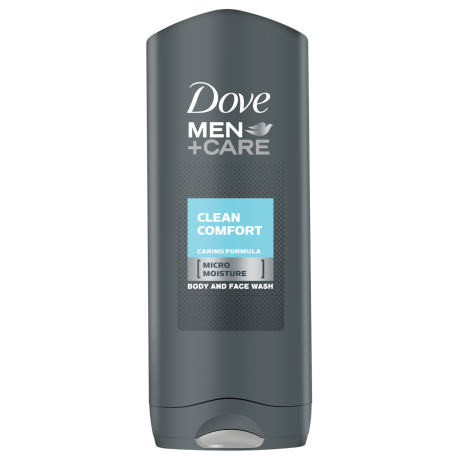 Dove Men+Care Clean Comfort gel za prhanje za telo in obraz 250ml