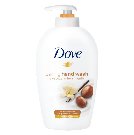Dove Purely Pampering Shea butter with warm vanilla tekoče milo 250ml