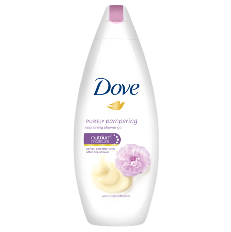 Dove Purely Pampering Sweet Cream with Peony hranljivi krem gel za tuširanje 250ml