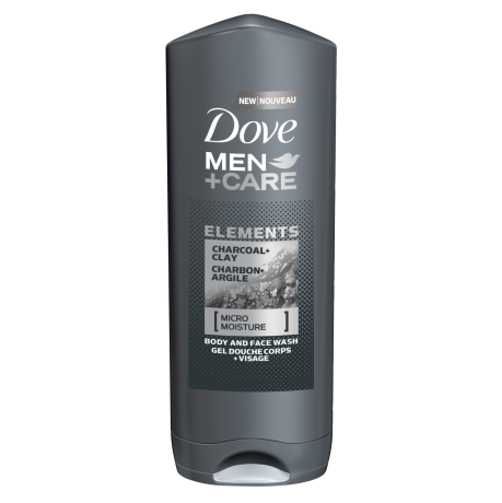 Gel douche Dove Men+Care Charbon + Argile 400 ml