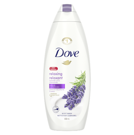 Relaxing Body Wash with Lavender and Chamomile 650ml