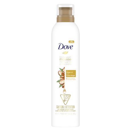 Dove Body Wash Mousse with Argan Oil 292g