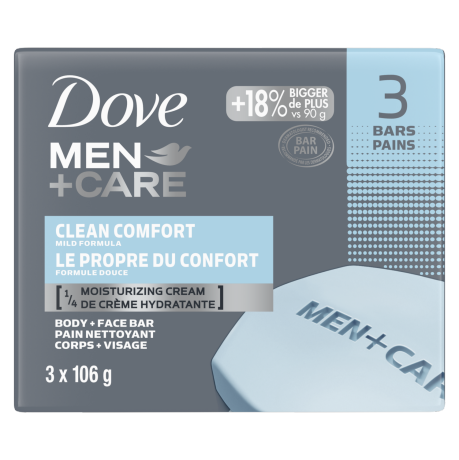 Men+Care Clean Comfort Body and Face Bar 3x106g