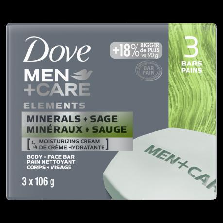 Pain Dove Men+Care Minéraux + Sauge 3 x 106 g
