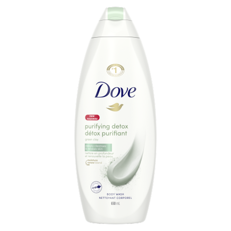 Dove Purifying Detox Body Wash with Green Clay 650ml