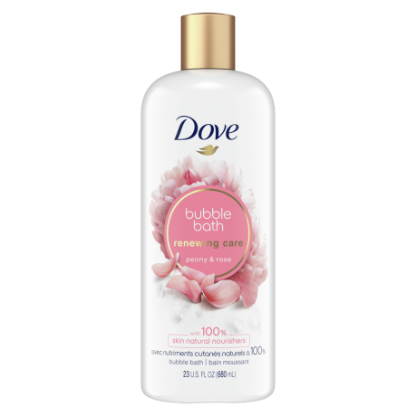 Renewing Care Peony & Rose Bubble Bath Front