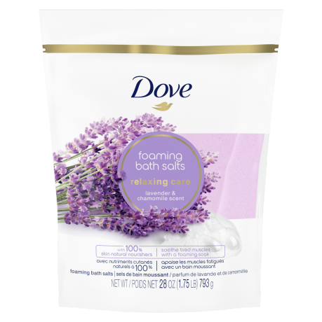 Relaxing Care Lavender and Chamomile Scent Bath Salts Front