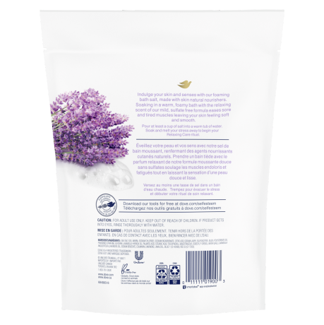 Relaxing Care Lavender and Chamomile Scent Bath Salts Back