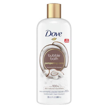 Pampering Caring Coconut & Cocoa Bubble Bath Front