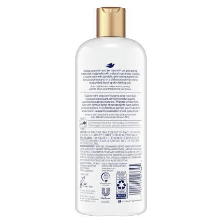 Pampering Caring Coconut & Cocoa Bubble Bath Back
