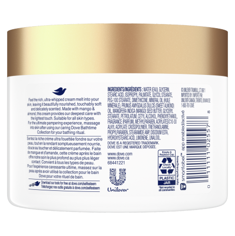 Glowing Care Mango & Almond After-Bath Body Whip Back