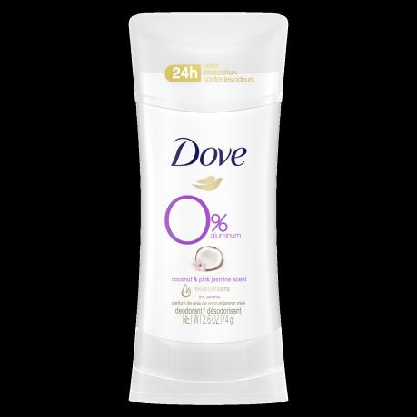 Désodorisant Dove 0 % aluminium Parfum de noix de coco et jasmin 74g