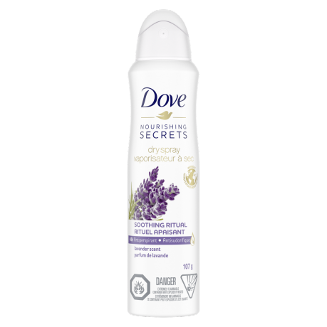 Dove Nourishing Secrets Lavender Scent Dry Spray Antiperpirant 107g